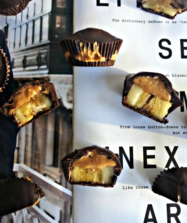 chocolate banana peanut butter cups