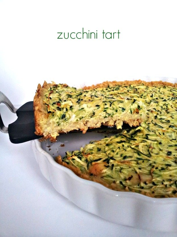 Zucchini Tart with Brown Rice Crust