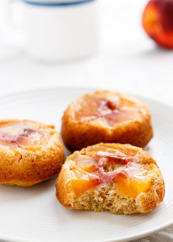 nectarine upside down cake-