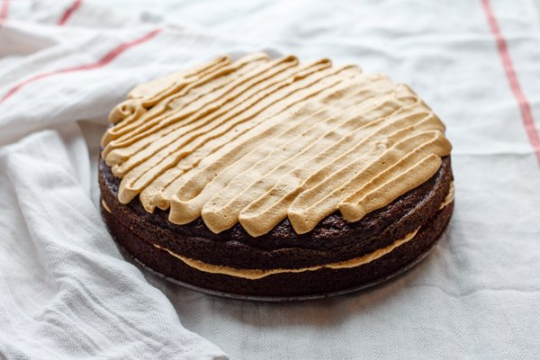 Gingerbread Cake with Pumpkin Frosting