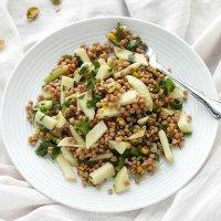 apple pistachio israeli couscous