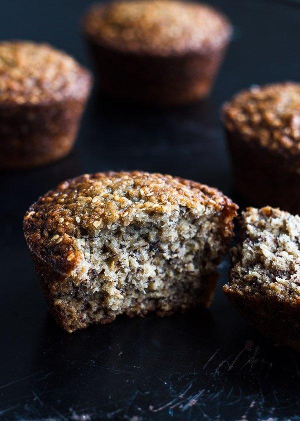Sesame Banana Oat Muffins