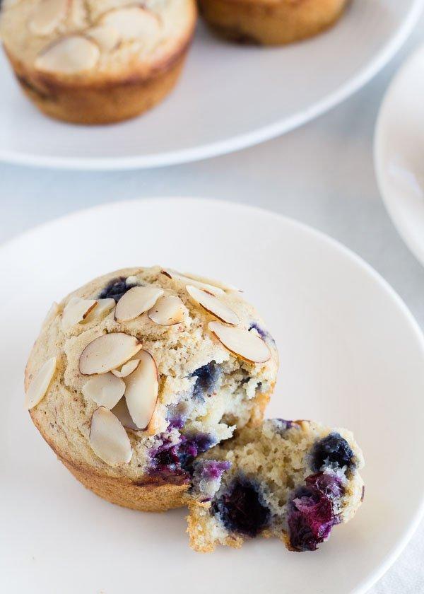 Lemon Almond Blueberry Muffins
